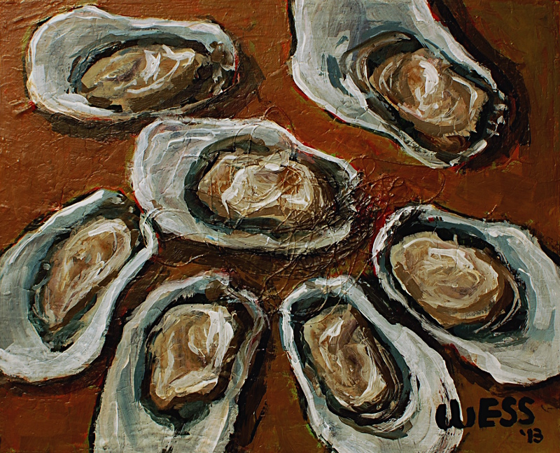 "Oysters #3, 8x10"", $75"