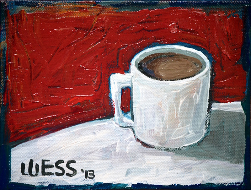 offee Cup on Red, 6x8""