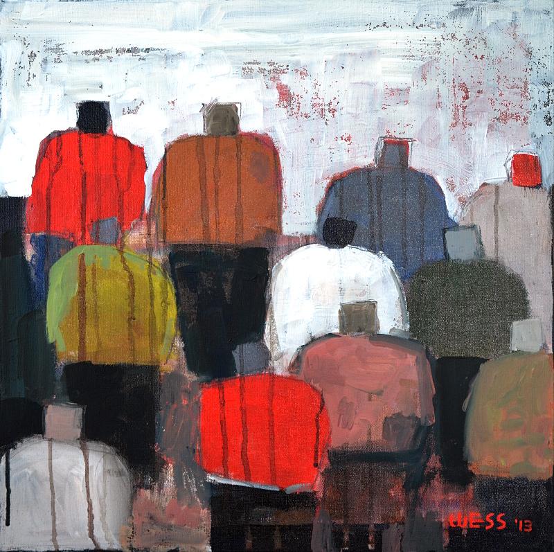 "Captive Audience #17  (no. 1031)    20x20"", $300"