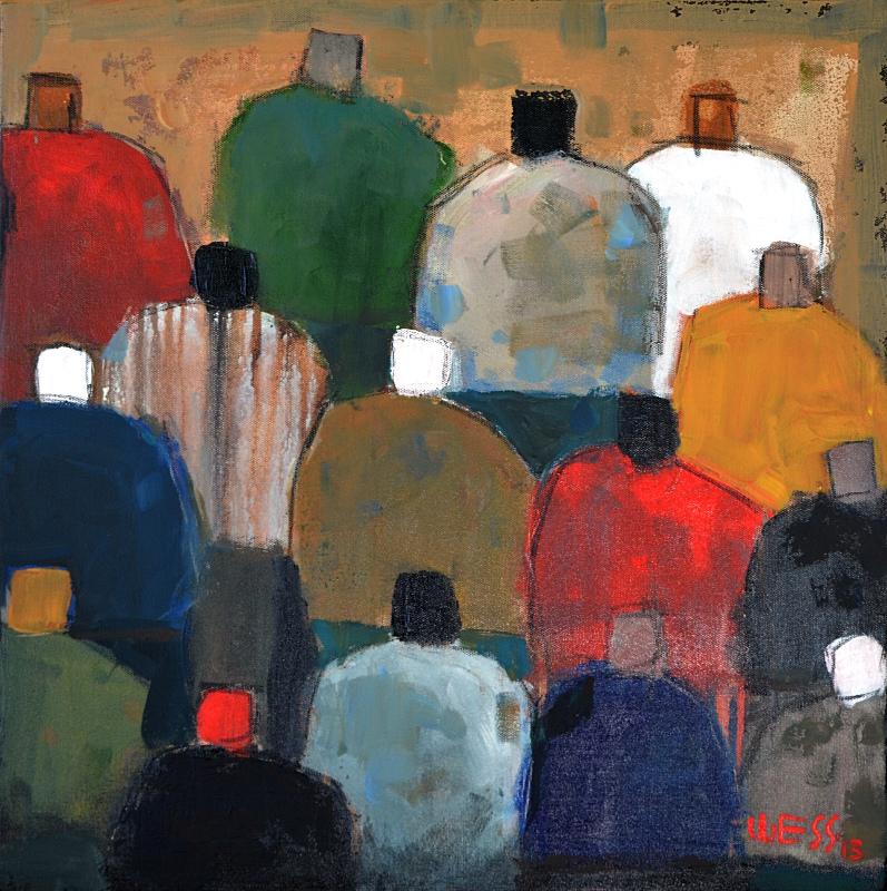 "Captive Audience #18   20x20"", $300"