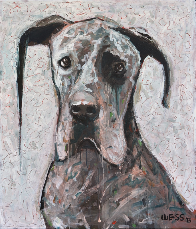 "Great Dane 28x24"", $400"