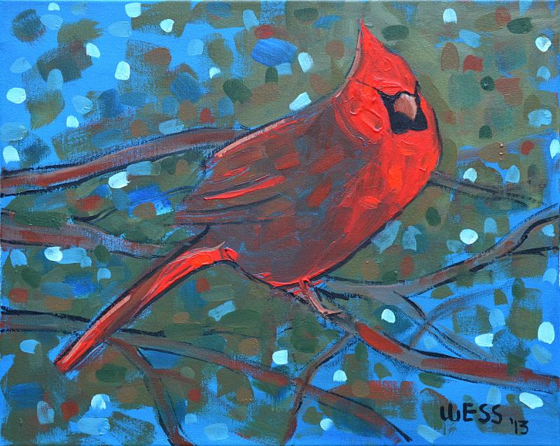 """Cardinal,  16x20"""", $250"""