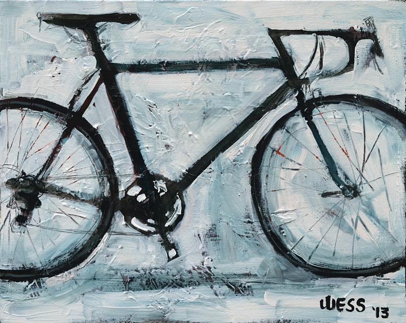 "Bike, 16x20"", $200"
