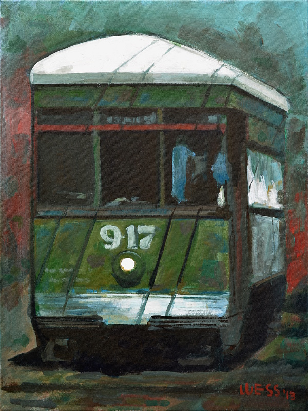 "New Orleans Streetcar #15  24x18"", SOLD"