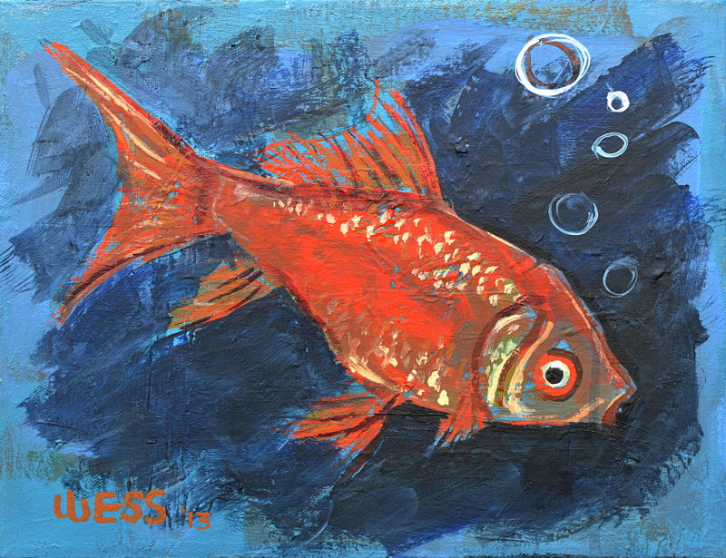 "Goldfish  11x14"", SOLD"