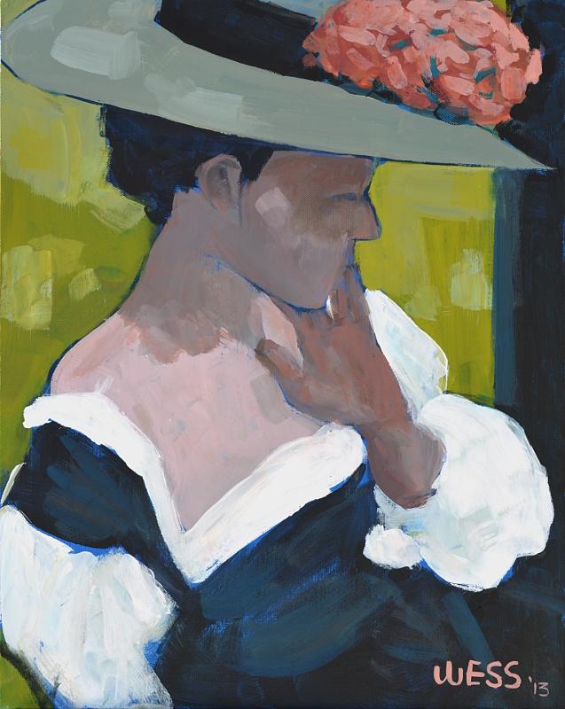 "Portrait of Portrait of Mrs White  20x16"", SOLD"
