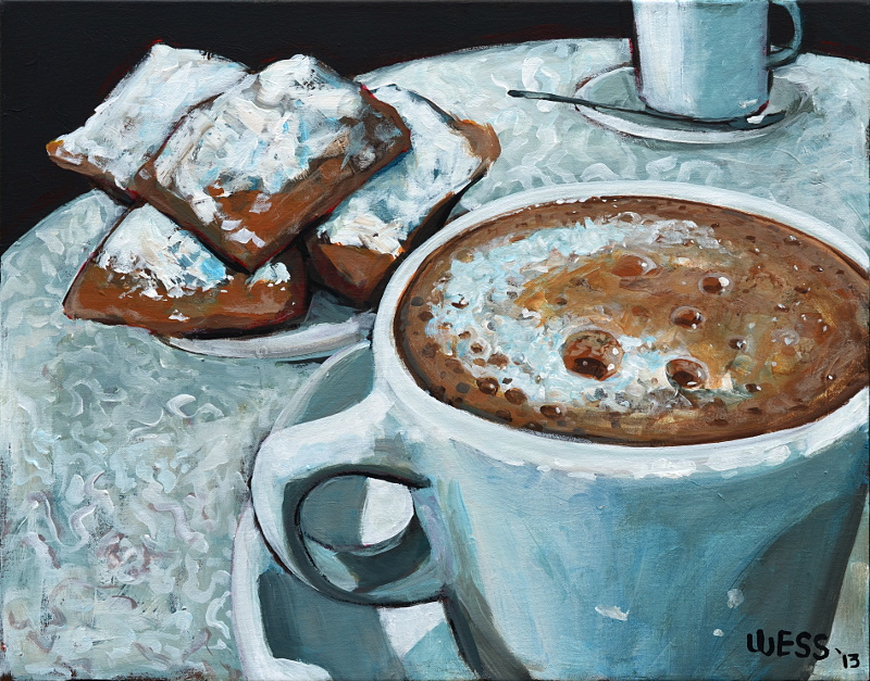 "Coffee and Beignets #3  22x28"", SOLD"