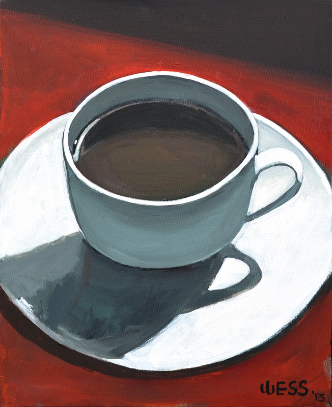 "Another Cup of Coffee,  20x16"", SOLD"