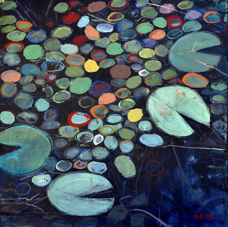 "Lily Pads 36x36"", $700"