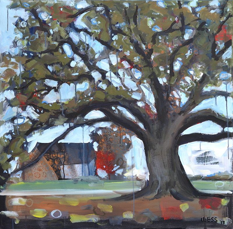 "Domesticated Live Oak, 36x36"", $700 (no. 1020)"