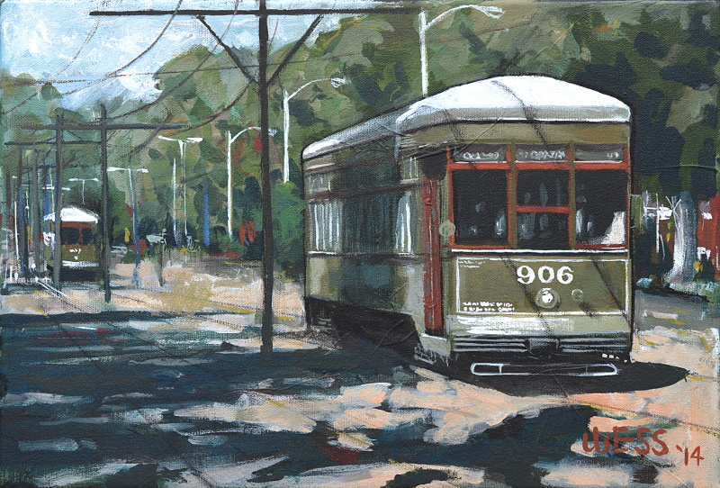 "New Orleans Streetcars #16, 11x16"", SOLD"