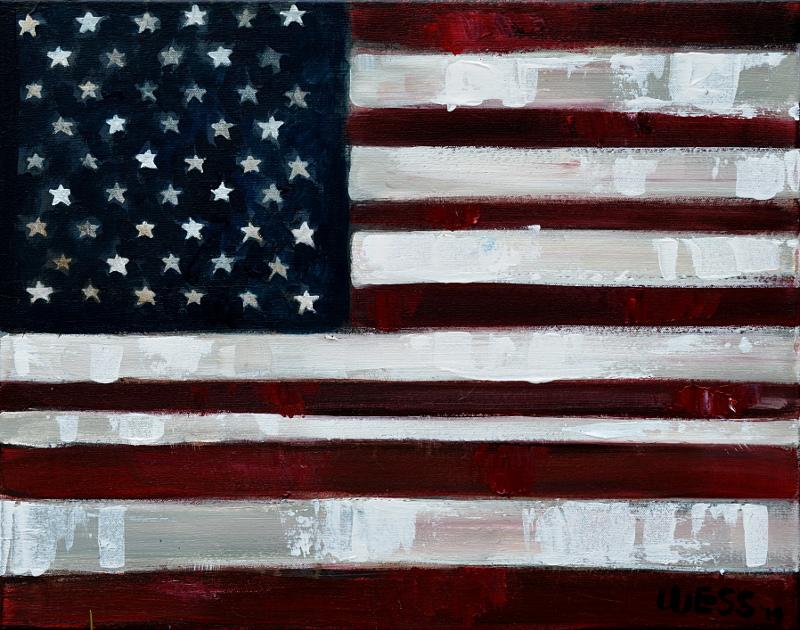 "American Flag #11, 16x20"", $200"