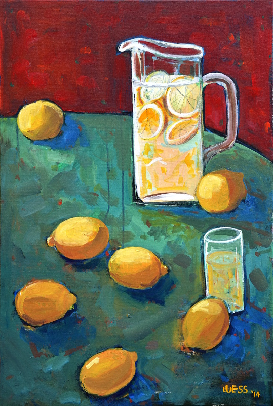 "When Life Gives You Lemons, 36x24"", $450"