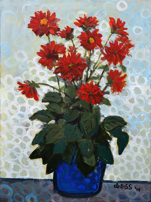 """Dahlinova Hypnotica Red, 24x18"""", $300"""