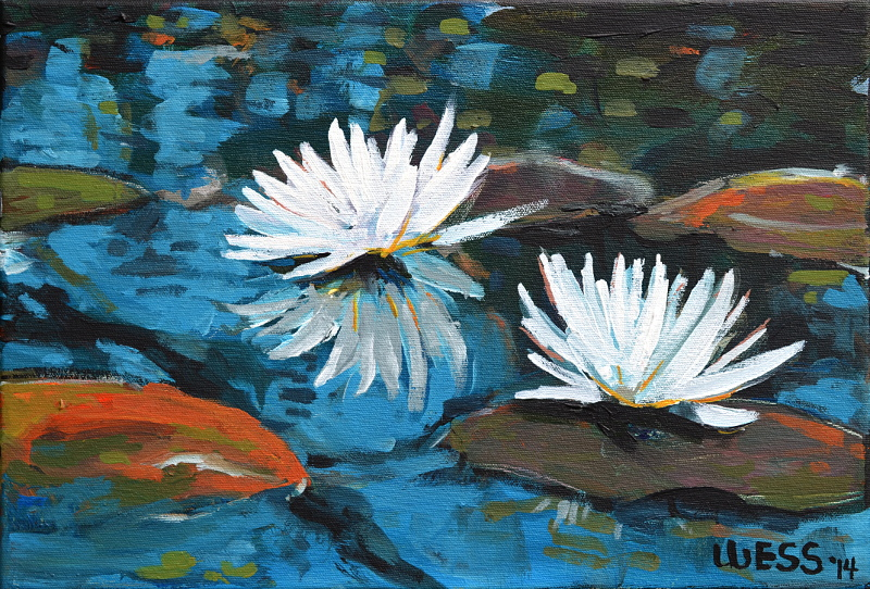 "Waterlilies #3, 11x16"", SOLD"