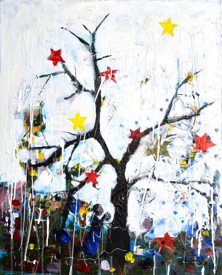 "Wish Tree, 30x24"""