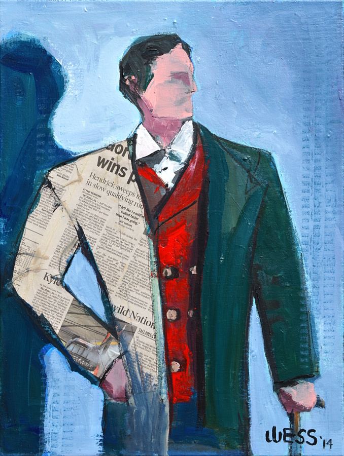 "Dapper Man, 24x18"", $300"
