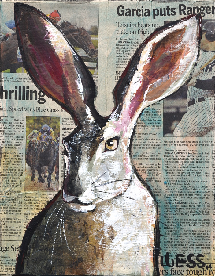 "Jackrabbit, 14x11"", SOLD"