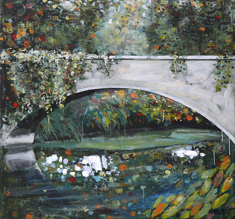 NOLA City Park Bridge, 44.5x47""