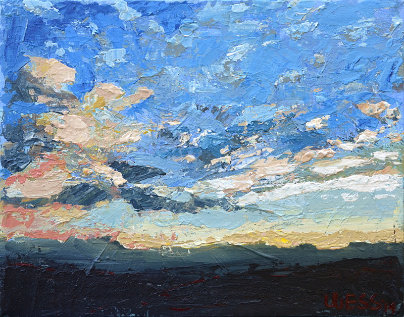 "Sunset with Clouds, 8x10"", SOLD"