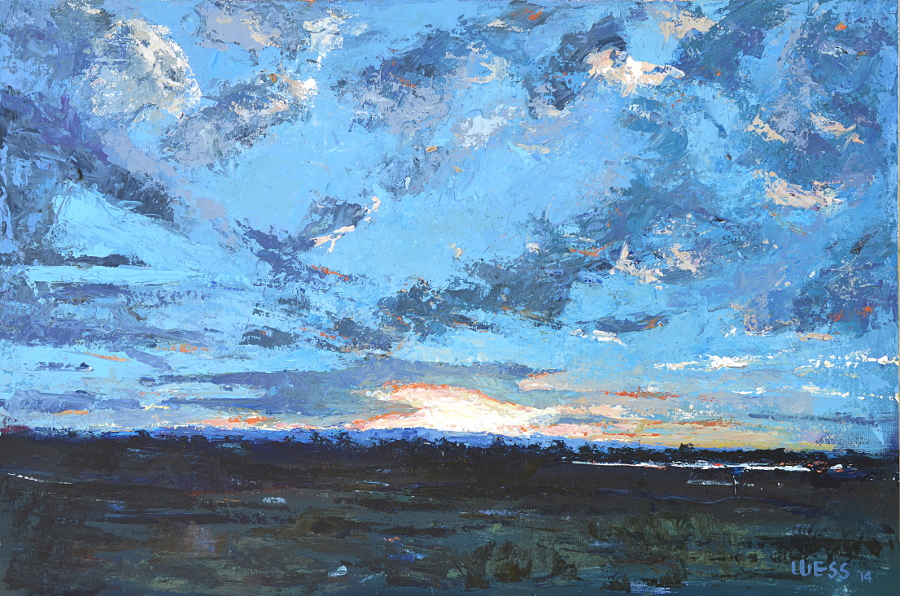 "Sunset with Clouds #2, 24x36"", SOLD"