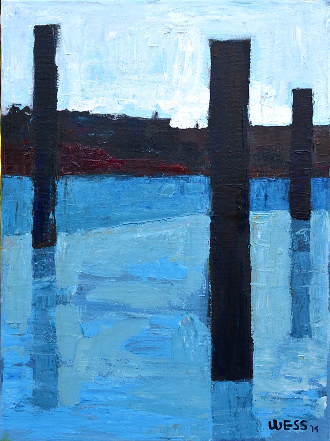"Untitled Blue #2, 24x18"", $300  (no. 1017)"