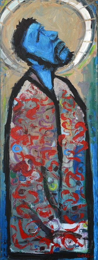 "Everyday Saint, 48x18"", SOLD"