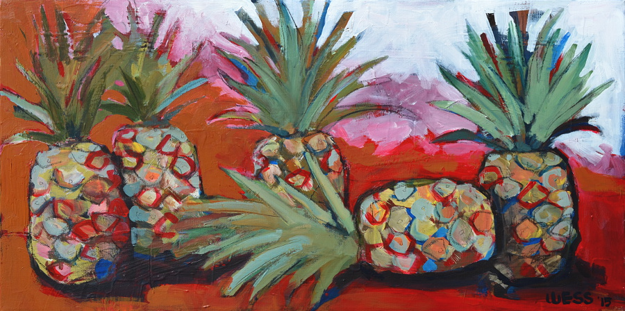 "Pineapples #1, 18x36"", $400  (no. 1008)"