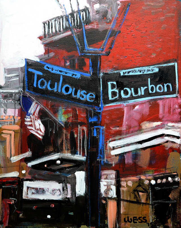 "Toulouse & Bourbon, 20x16"", $300 -  (no. 1016)"