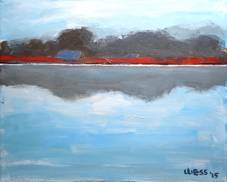 "Lakeshore (horizontal), 16x20"", $300 (no. 1034)"