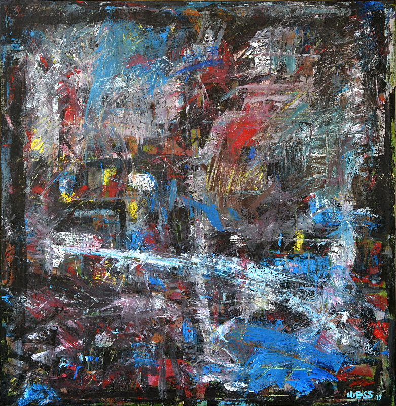 "Substratum #1, 39x37"", $1200 (no. 1042)"