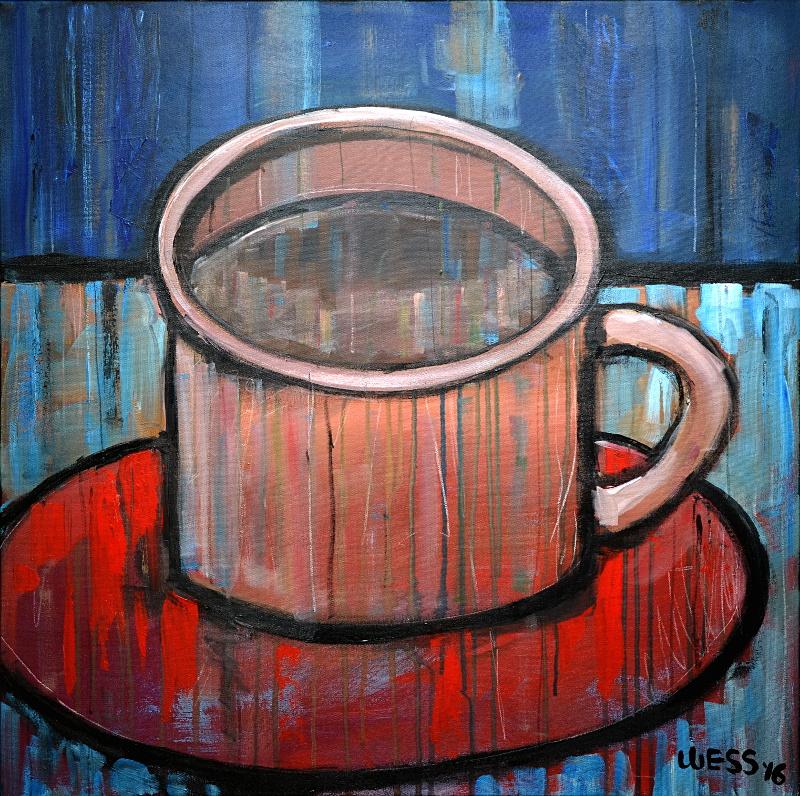 "Cup of Joy, 30x30"", $700"
