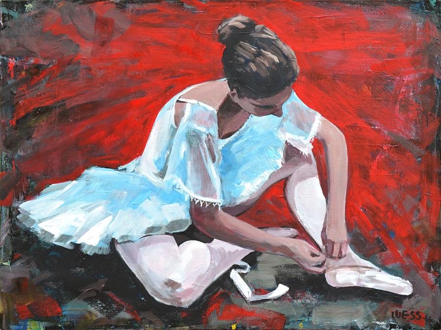 "Dancer, 30x40"", $1000"