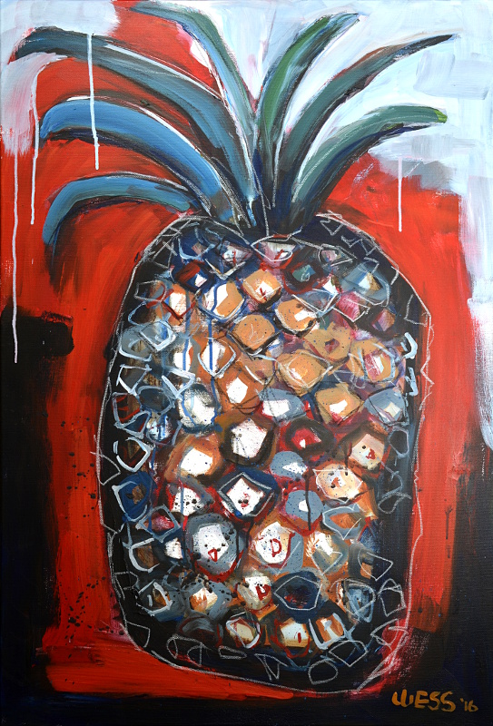 "Pineapple Abstracted, no. 01, 36x24"", $675"