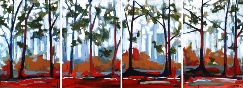 """Through the Wild Wood series---large"", 36x24"" and $500 each"