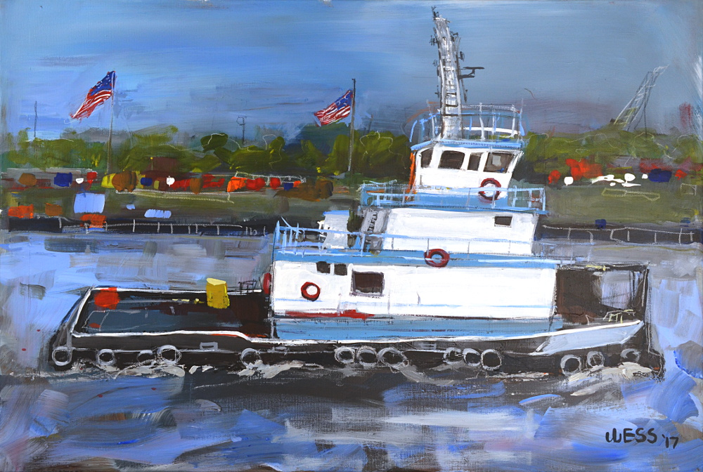 "Tugboat, 24x36"", SOLD"