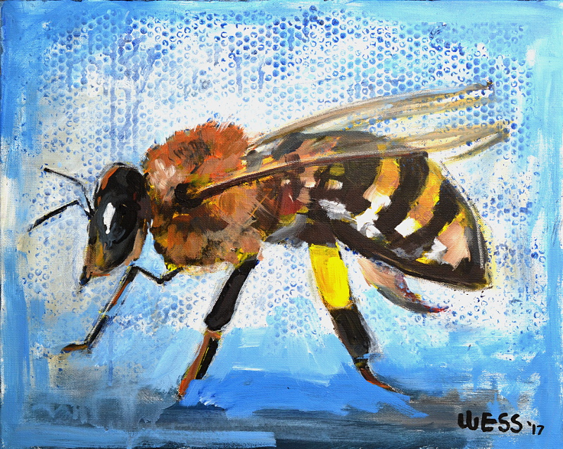"Busy Bee, 16x20"", SOLD"