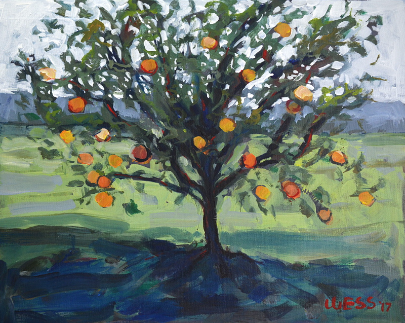 "Satsuma Tree, 16x20"", $300"