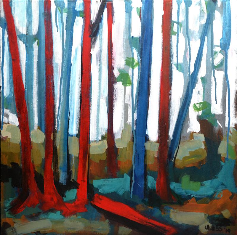 """Tree Fall, 20x20"""", $425"""