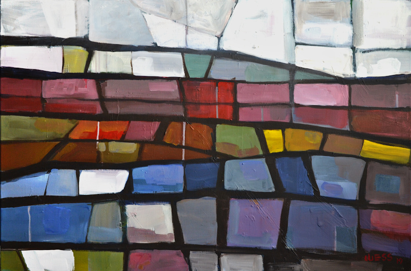 "Fractured Landscape #2, 24x36"", $725"