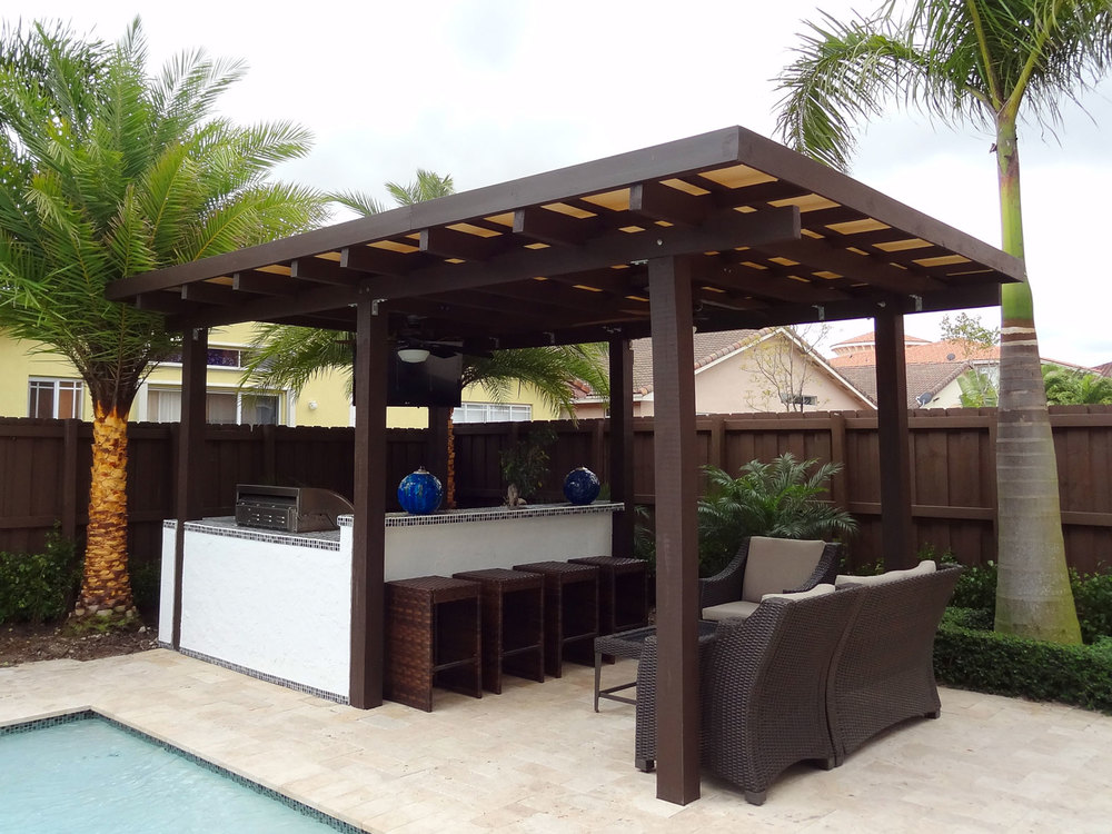 Pictures of pergolas with roofs inspiration - Pergola with roof ...
