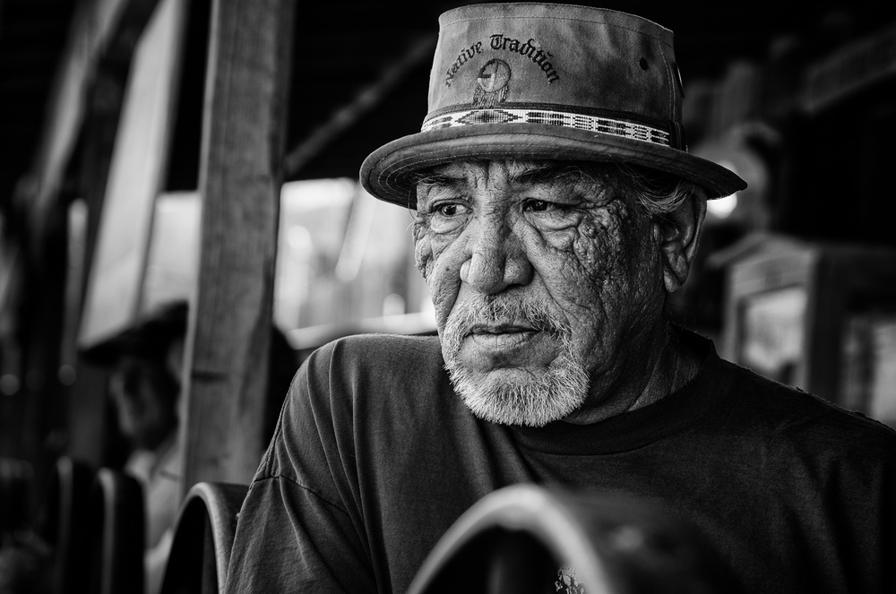 Portrait, Native American, Route 66, Oatman, Arizona