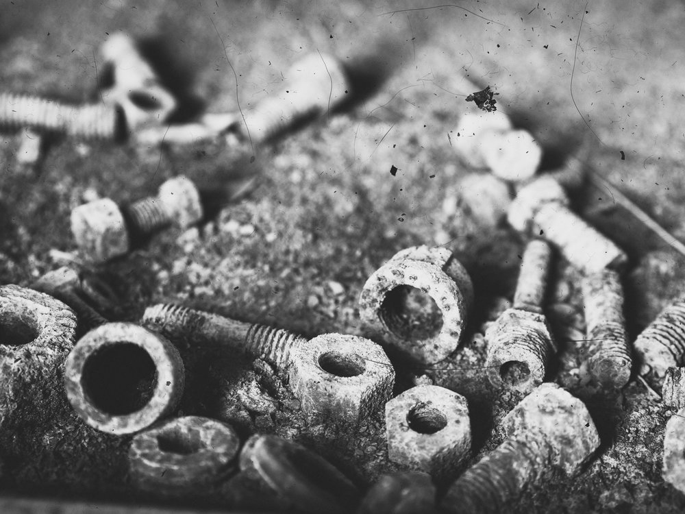Oxidized Nuts and Bolts