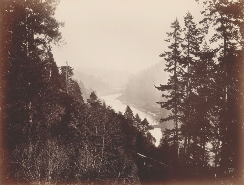 Mendocino River, From the Rancherie, Mendocino County, California, c. 1863/68