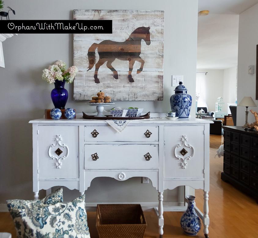 #anniesloan #purewhite #sideboard #paintedfurniture