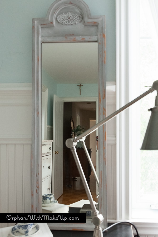Painted vintage mirror