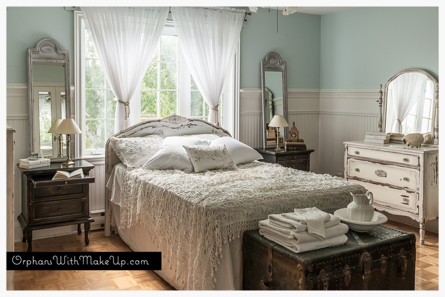 Curated bedroom with antique and vintage finds
