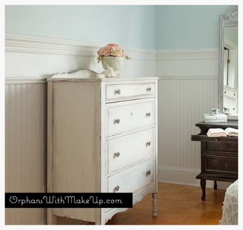 Milk paint and antiquing wax