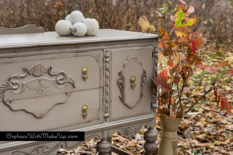 """Fall inspired painted buffet. Annie Sloan """"Coco"""" Chalk Paint®."""