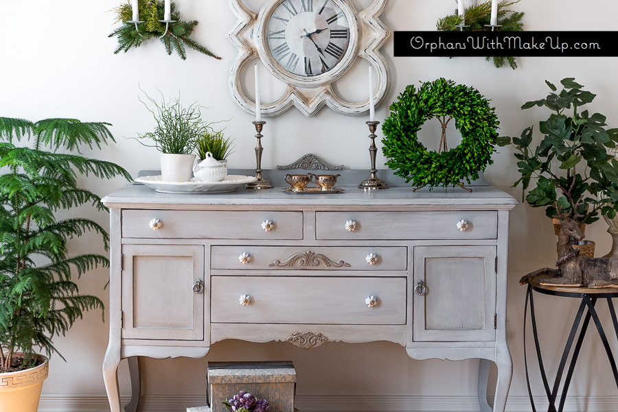 Sideboard painted in Paris Grey Chalk Paint® decorative paint by Annie Sloan